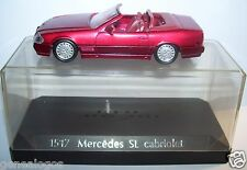 OLD SOLIDO MERCEDES 500 SL CABRIOLET ROUGE METAL REF 1517 1/43 IN BOX
