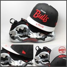 New Era Chicago Bulls Snapback Hat For Air Foamposite One Fighter Jet Camo nba