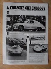 PORSCHE 1974 orig Racing Article USA Mkt Brochure - 356 Carrera GTS 904 907 917