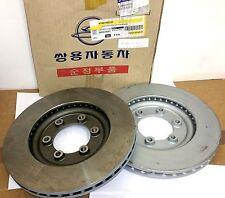 GENUINE SSANGYONG Rexton 2.7D Vented Front Brake Discs 4144108030 (Pair)