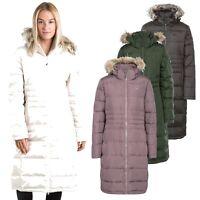 Trespass Phyllis Womens Down Jacket Warm Long Length Parka Coat