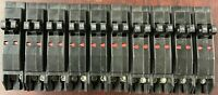 LOT OF 10 SQUARE D QO1515 TWIN 15A BREAKER CLIP ON (NO HOOK) NEW