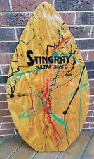 Vintage Stingray Ultra Skate Paint Splash Wood Skimboard Boogie Board