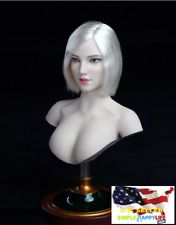 "1/6 Female Head Sculpt SDH018 A For TBLeague Phicen Pale 12"" figure Poptoy ❶USA❶"