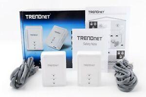 TRENDnet Powerline 500 AV Nano Adapter Kit, Includes 2 x TPL-406E Adapters 23587