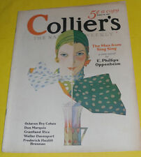 Colliers Magazine 1931 Girl Drinking A Soda – Robert O. Reid cover Great Pics!