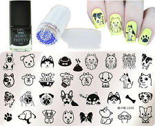 4Pcs/Set Animal Theme Nail Art Stamp Plate Stamping Polish & Stamper Scraper Kit