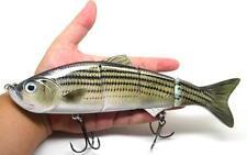 "10"" Multi Jointed Muskie Pike Fishing Bait Lure Swimbait Bass Life Like Rainbow"