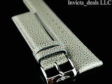 Invicta Lupah Genuine Leather 24mm Gray Replacement Strap AUTHENTIC