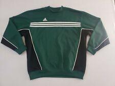 Vintage 1990s Adidas Crewneck Sweatshirt Men's Large Green White 3 Stripes