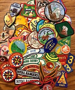 Vintage Royal Rangers Misc Lot Patches Wood Bolo Tie Uniform Insignia Numbers
