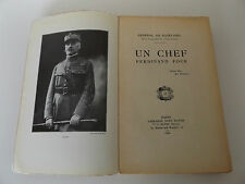 1930 WW1 UN CHEF FERDINAND FOCH 1st Ed. General de Bazelaire MAPS PLATES French