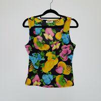 Vintage Success Australia Women's Tank Top Fruit Print Sleeveless Size M