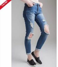Cotton Boyfriend High Rise L28 Jeans for Women