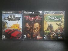 Trigger Man, Future Tactics, DT Carnage (Sony PlayStation 2) 3 Game Lot Sealed