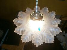 ORIGINALE francese lightshade, chiari, Vintage, Vetro, CIONDOLO SHADE Antico. SF20
