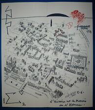 Pierre Demarne encre sur papier signée art abstrait surréalisme