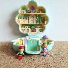 Polly Pocket vintage Midge's Flower shop playcase with 2 figures Bluebird 1990