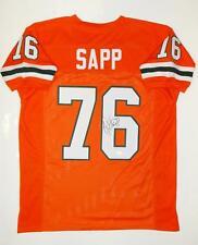 Warren Sapp Autographed Orange W/ Green College Style Jersey- JSA Witnessed Auth