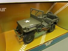 UT MODELS 1/18 U.S. ARMY GREEN WILLYS JEEP USED IN BOX *BOX ISSUE*
