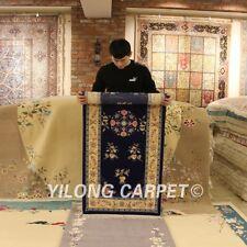 YILONG 2.5'x6' Chinese Art Deco Handmade Long Wool Carpet Strip Area Rug Runner