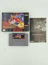 Aladdin w/ Box & Instructions & Game Authentic Cleaned Tested SNES Cartridge