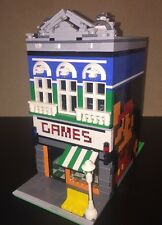 Lego Custom City Modular Arcade Game Store Mario 800 Parts Town Nintendo