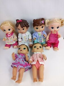 Lot Of 6 Baby Alive Dolls All Are Dressed Spanish Speaking Baby All Gone+ 5other
