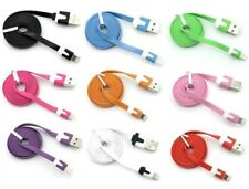 6ft flat noodle usb data charger Cable for iPhone X 8 7 6 plus 5s iPod Touch 5