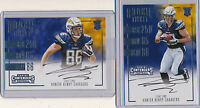 HUNTER HENRY 2016 Contenders Rookie Ticket & Variation SP AUTOs - Chargers RC