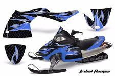 AMR Racing Sled Wrap Polaris Fusion Snowmobile Graphics Kit 2005-2007 TRIBAL BLU