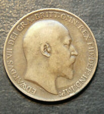 More details for 1908 king edward one penny coin