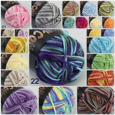 Sale Soft Cotton Baby Yarn New Hand dyed Wool Socks Scarf Knitting 1ball x 50g