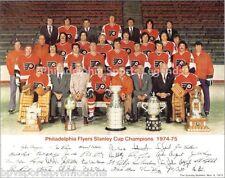 1974-75 STANLEY CUP PHILADELPHIA FLYERS 8X10 TEAM PHOTO PARENT CLARKE BARBER HOF