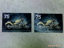 Vintage BMW Motorcycle Postcards  75th Anniversary * Pre-owned * BMW R 1200 C