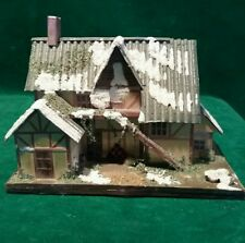 Hand Crafted Balsa Wood House Secret Trinket Box #4