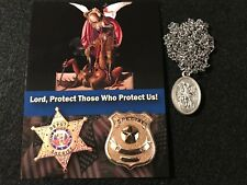 St. Michael (patron saint of the military and police officers) Medal Necklace