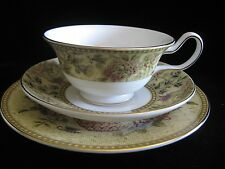 Wedgwood FLORAL TAPESTRY Trios Peony Shaped Cup Saucer & Side Plate (PERFECT)