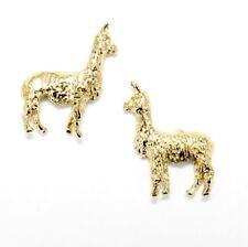 Llama alpaca Green Stud Earrings ✨Glass ⭐ Handmade ✨ 12mm