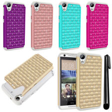 For HTC Desire 626 626S Luxury Shockproof HYBRID Sparkle Case Phone Cover + Pen