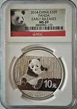 2014 CHINA 10 YUAN PANDA 1 OZ SILVER COIN NGC MS 69 Early Releases