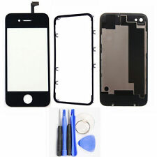 Touch Screen Digitizer + Frame Bezel + Back Cover Battery Door For iPhone 4S New