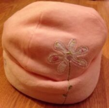 MOTHERCARE Pink Floral Hat Baby Girl Embroidered Velour Newborn FIRST SIZE 0-3
