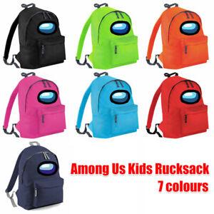 NEW Among Us Game Shoulder Backpack Boys Girls School Bag Travel Rucksack UK
