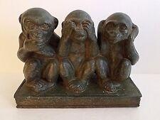 "Vintage See No Evil, Hear No Evil, Speak No Evil Monkeys, 6.5"" tall"