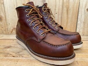 Red Wing Heritage Shoes 8138 Briar Oil Slick Moc Toe Boots USA Size 7.5 D