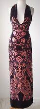 CHRISTIAN LACROIX BAZAR Velvet Butterfly Print Open Back Dress Gown 2
