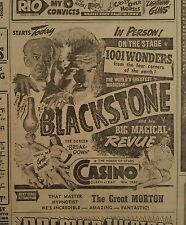 JAN 8, 1953 NEWSPAPER PAGE #J5467- HARRY BLACKSTONE IN PERSON- ON THE STAGE