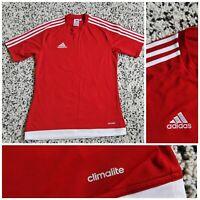 Adidas Mens T Shirt Football Training Top Gym Climalite Size UK Small