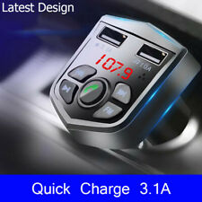 More details for bluetooth car fm transmitter mp3 player radio wireless adapter kit 2 usb charger
